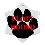 Plott Hound Name Paw Snowflake Ornament (2-Side) Back