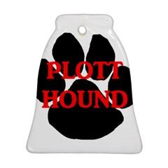 Plott Hound Name Paw Bell Ornament (2 Sides)