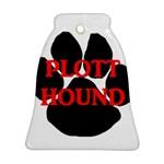 Plott Hound Name Paw Bell Ornament (2 Sides) Back
