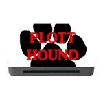 Plott Hound Name Paw Memory Card Reader with CF Front