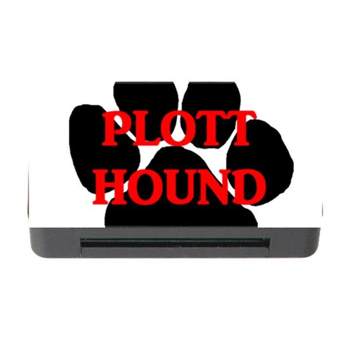 Plott Hound Name Paw Memory Card Reader with CF