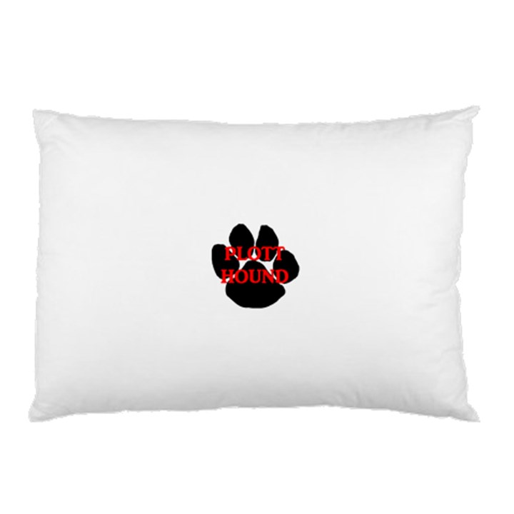 Plott Hound Name Paw Pillow Case (Two Sides)