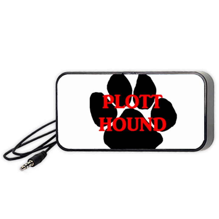 Plott Hound Name Paw Portable Speaker (Black)