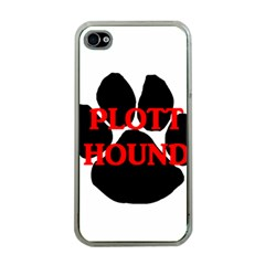 Plott Hound Name Paw Apple iPhone 4 Case (Clear)