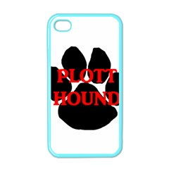Plott Hound Name Paw Apple iPhone 4 Case (Color)