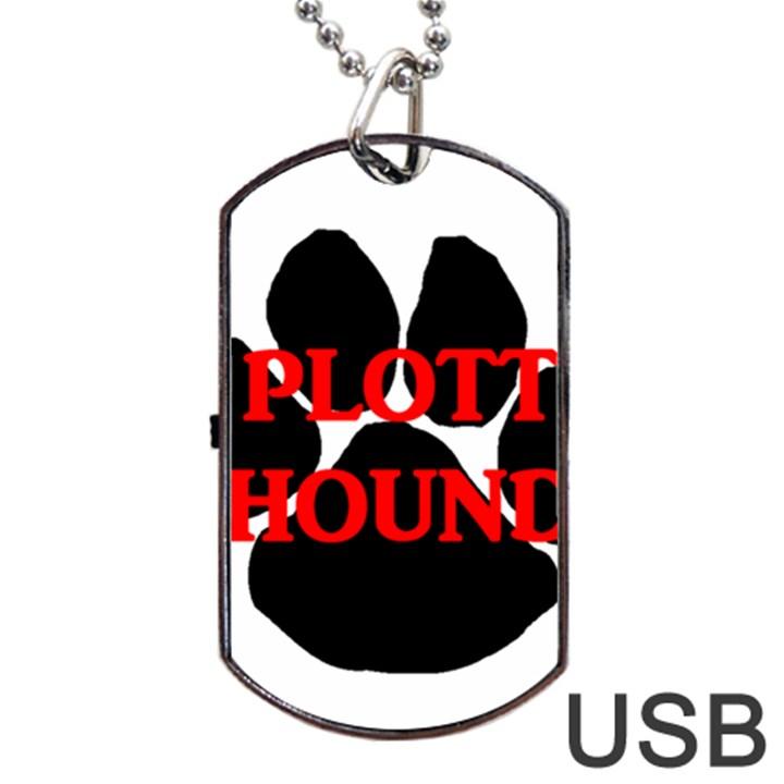 Plott Hound Name Paw Dog Tag USB Flash (Two Sides)