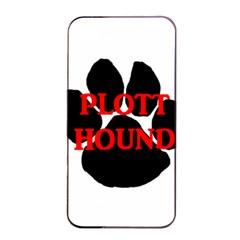 Plott Hound Name Paw Apple iPhone 4/4s Seamless Case (Black)