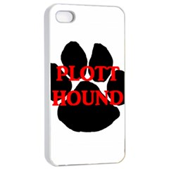 Plott Hound Name Paw Apple iPhone 4/4s Seamless Case (White)
