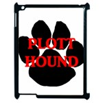 Plott Hound Name Paw Apple iPad 2 Case (Black) Front