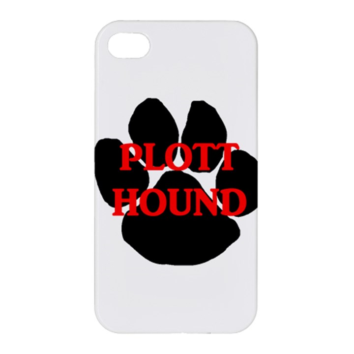 Plott Hound Name Paw Apple iPhone 4/4S Hardshell Case
