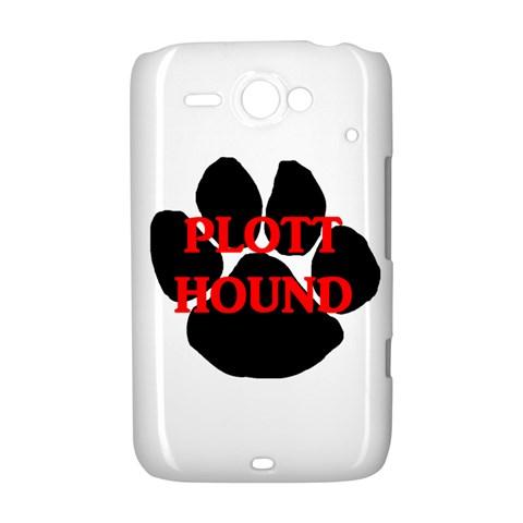 Plott Hound Name Paw HTC ChaCha / HTC Status Hardshell Case