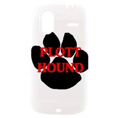 Plott Hound Name Paw HTC Amaze 4G Hardshell Case