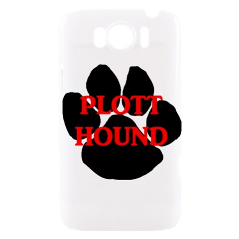 Plott Hound Name Paw HTC Sensation XL Hardshell Case