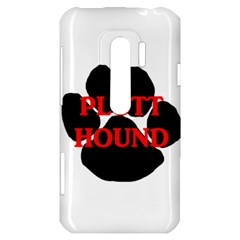 Plott Hound Name Paw HTC Evo 3D Hardshell Case