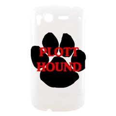Plott Hound Name Paw HTC Desire S Hardshell Case