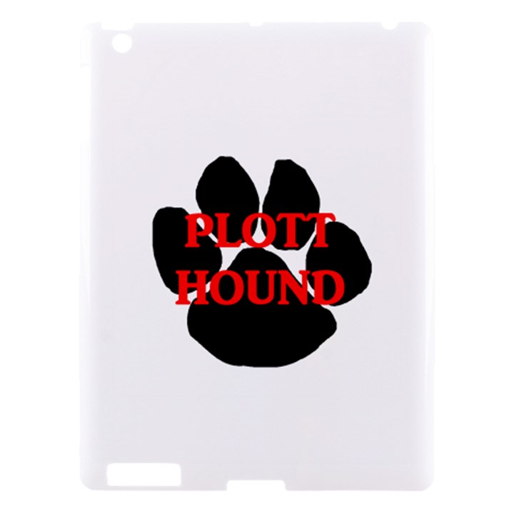 Plott Hound Name Paw Apple iPad 3/4 Hardshell Case