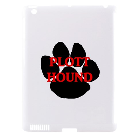Plott Hound Name Paw Apple iPad 3/4 Hardshell Case (Compatible with Smart Cover)