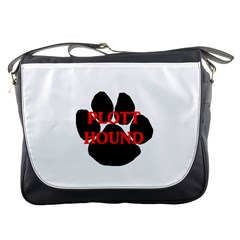 Plott Hound Name Paw Messenger Bags