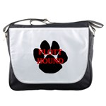 Plott Hound Name Paw Messenger Bags Front