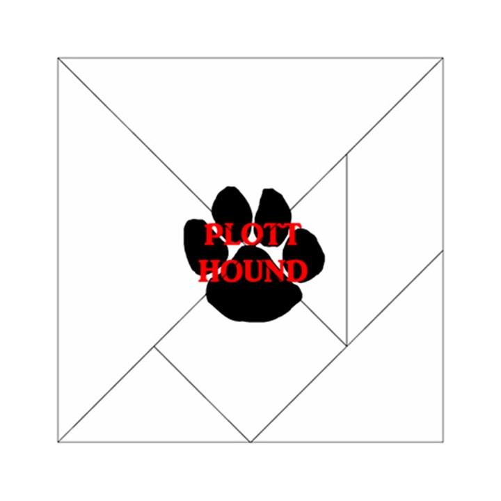 Plott Hound Name Paw Acrylic Tangram Puzzle (6  x 6 )