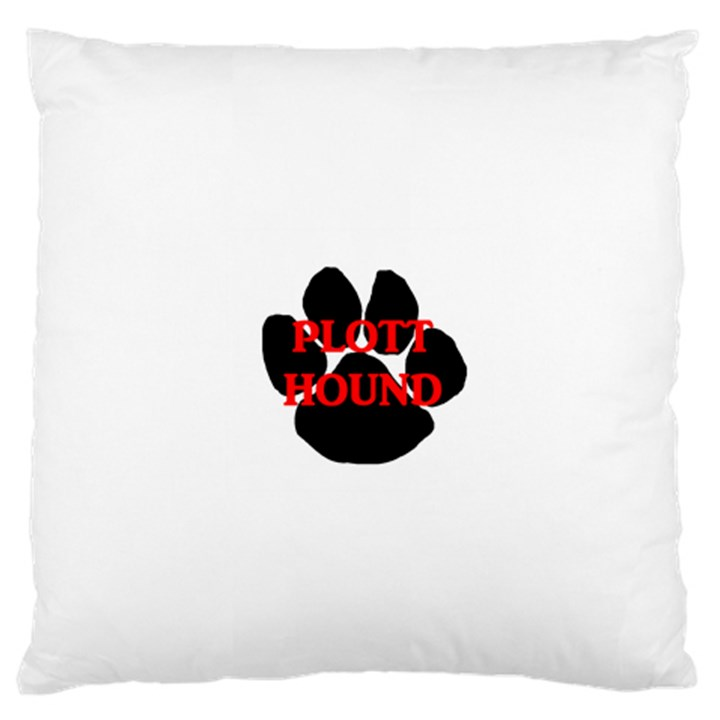 Plott Hound Name Paw Large Cushion Case (One Side)