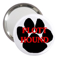 Plott Hound Name Paw 3  Handbag Mirrors
