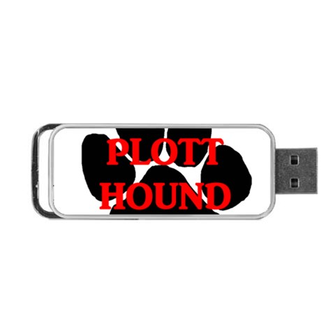 Plott Hound Name Paw Portable USB Flash (Two Sides)