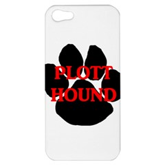 Plott Hound Name Paw Apple iPhone 5 Hardshell Case
