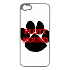 Plott Hound Name Paw Apple iPhone 5 Case (Silver)