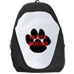 Plott Hound Name Paw Backpack Bag Front