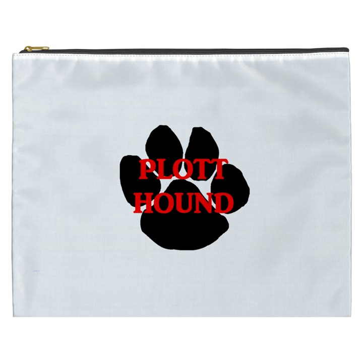 Plott Hound Name Paw Cosmetic Bag (XXXL)
