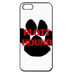 Plott Hound Name Paw Apple iPhone 5 Seamless Case (Black) Front