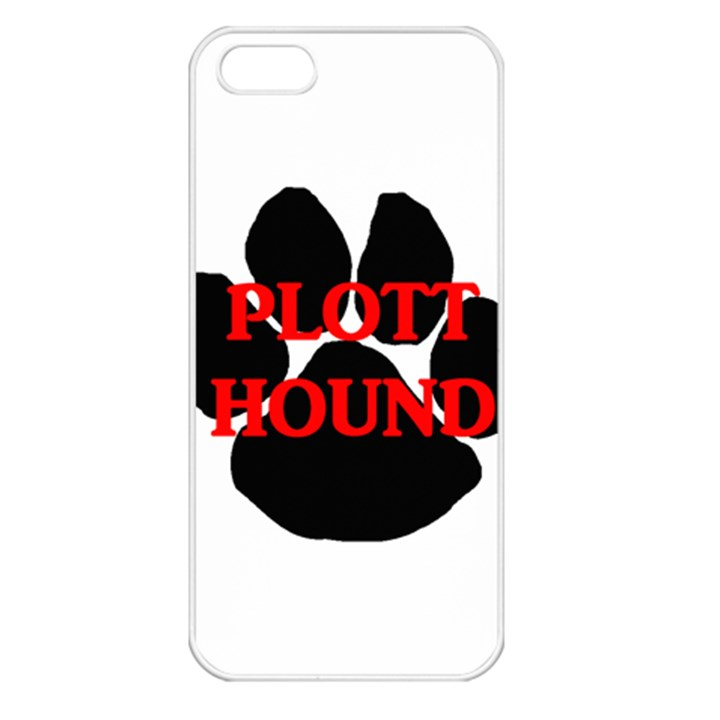Plott Hound Name Paw Apple iPhone 5 Seamless Case (White)