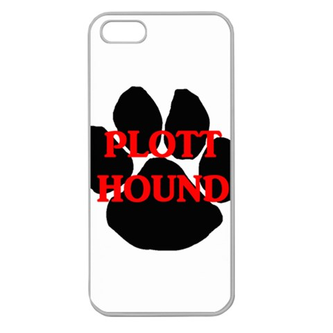 Plott Hound Name Paw Apple Seamless iPhone 5 Case (Clear)
