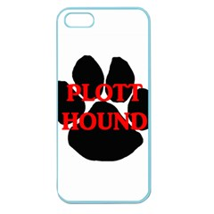 Plott Hound Name Paw Apple Seamless iPhone 5 Case (Color)