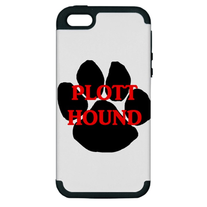 Plott Hound Name Paw Apple iPhone 5 Hardshell Case (PC+Silicone)