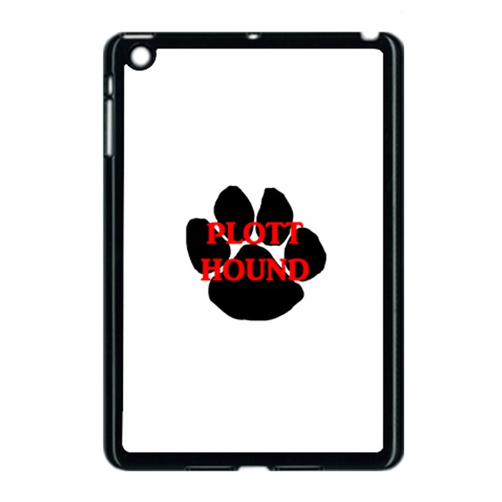 Plott Hound Name Paw Apple iPad Mini Case (Black)