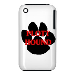 Plott Hound Name Paw Apple iPhone 3G/3GS Hardshell Case (PC+Silicone)