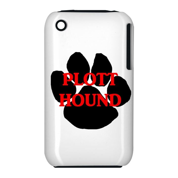 Plott Hound Name Paw Apple iPhone 3G/3GS Hardshell Case (PC+Silicone)