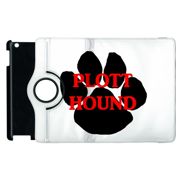 Plott Hound Name Paw Apple iPad 3/4 Flip 360 Case