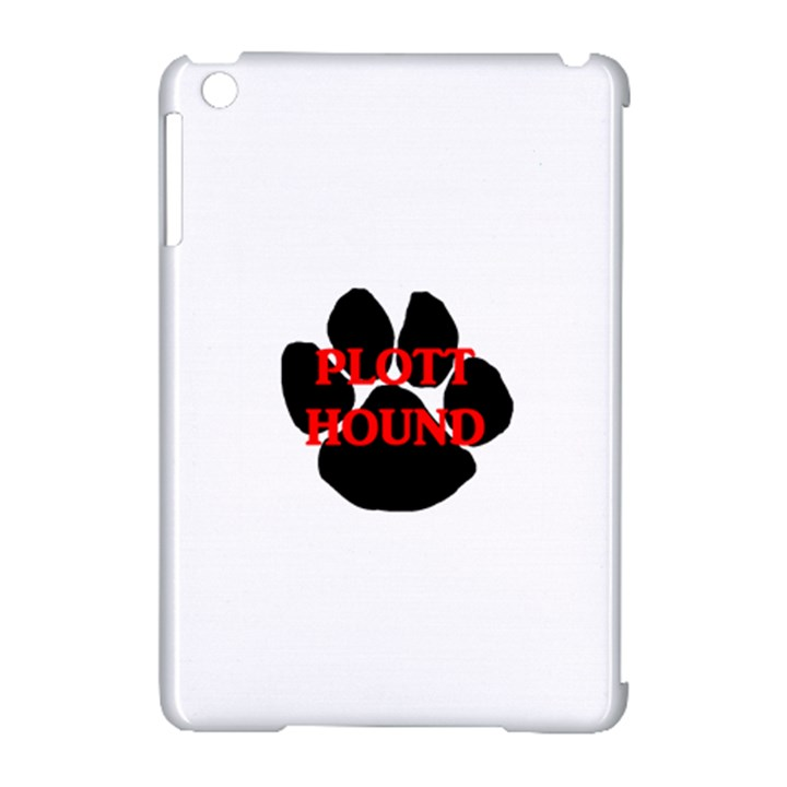 Plott Hound Name Paw Apple iPad Mini Hardshell Case (Compatible with Smart Cover)