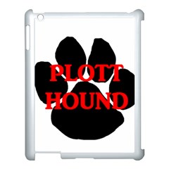 Plott Hound Name Paw Apple iPad 3/4 Case (White)