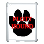 Plott Hound Name Paw Apple iPad 3/4 Case (White) Front