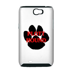 Plott Hound Name Paw Samsung Galaxy Note 2 Hardshell Case (PC+Silicone)