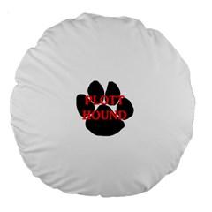 Plott Hound Name Paw Large 18  Premium Round Cushions