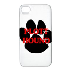 Plott Hound Name Paw Apple iPhone 4/4S Hardshell Case with Stand