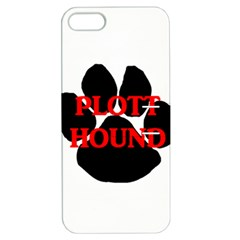 Plott Hound Name Paw Apple iPhone 5 Hardshell Case with Stand