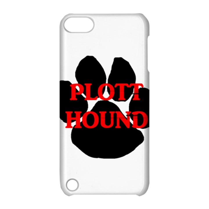 Plott Hound Name Paw Apple iPod Touch 5 Hardshell Case with Stand