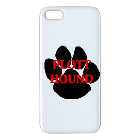 Plott Hound Name Paw Apple iPhone 5 Premium Hardshell Case