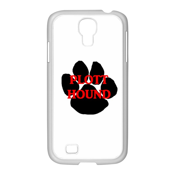Plott Hound Name Paw Samsung GALAXY S4 I9500/ I9505 Case (White)